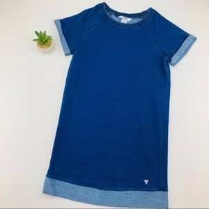 Guess Knit Jersey Rolled Sleeve Dress